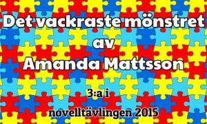 Det vackratste mönstret 3:a novelltävlingen 2015