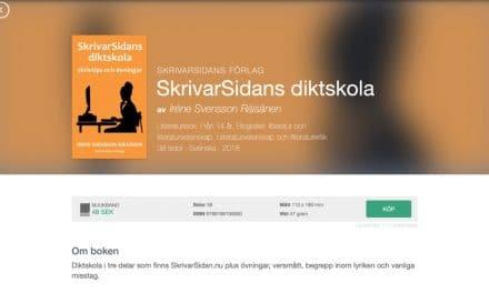 SkrivarSidans diktskola som pappersbok